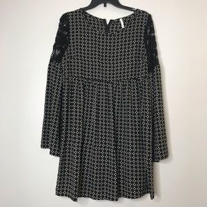 Sage Womens Dress Large Womens long sleeve black